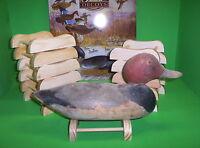 12- Wooden Decoy Stands/ Mason/ Pratt/ Collectable Decoys