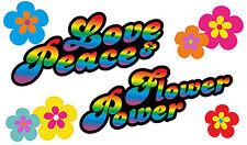 Blumen Aufkleber Hippie Blumen Autoaufkleber Flower Power: Love&Peace 05-Rainbow