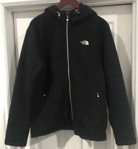 Details about The North Face Men's Zermatt Full Hoodie TNF Black Heather LARGE