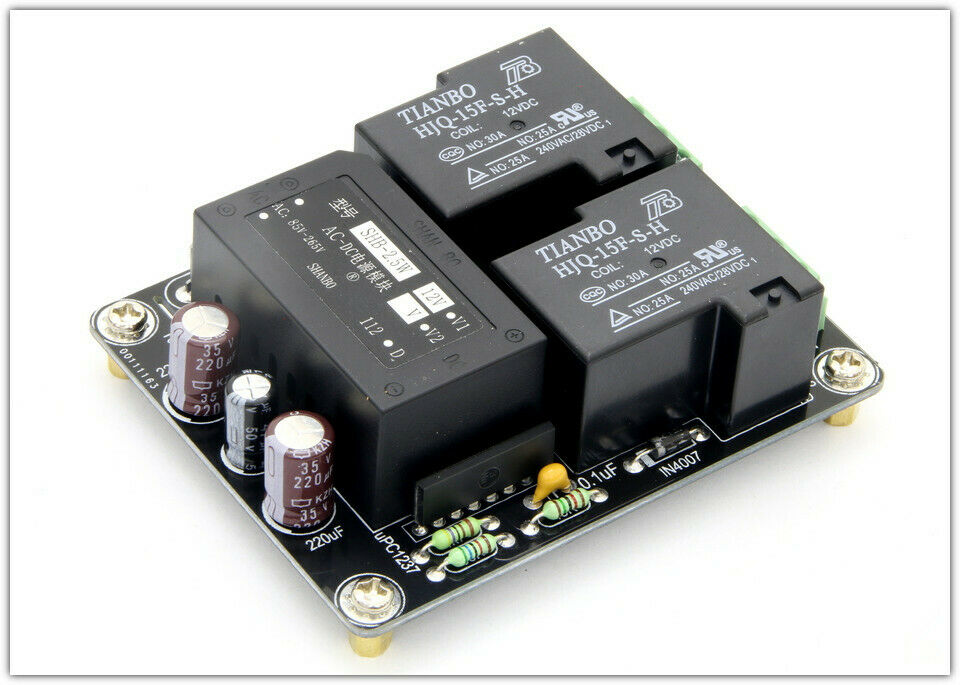 Assembled  30A Stero Power amp Speaker protection board