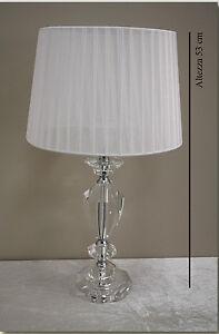 Lampada da tavolo moderno classico lume base cristallo h 53cm abatjour cod 15611 ebay - Ebay lampade da tavolo antiche ...