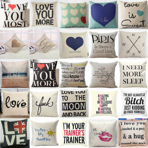 Funny-Letter-Pillow-Case-Cotton-Linen-Sofa-Throw-Cushion-Cover-Home-Decor-18inch