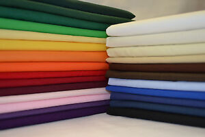 100/% Cotton Sheeting Fabric Solid Plain Colours Per Metre