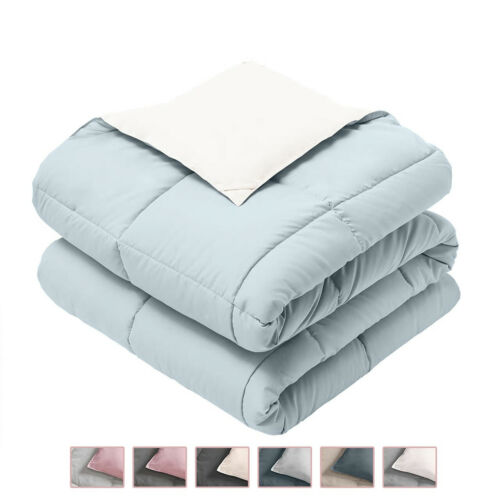 All-Season Ultra Soft Reversible Plush Down Alternative Blanket Fluffy Cooling
