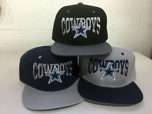 Dallas-Cowboys-Writing-Snap-Back-Cap-Hat-DAL-Embroidered-Adjustable-Flat-Bill