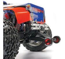 Traxxas 5186 Red Aluminum Wheelie Bar Wheels & Rubber Tires Bandit VXL Xl5