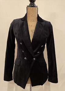 White-House-Black-Market-Black-Velvet-Blazer-Size-00-Pre-owned-MSRP-160-00