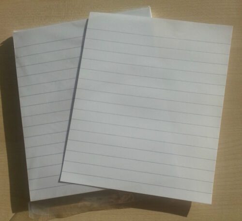 20cm x 16.5cm 12mm between lines 100 loose sheets lined paper
