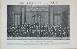 1901-Imprime-Cadets-De-The-Royal-Militaire-Academie-Woolwich-Lord-Roberts