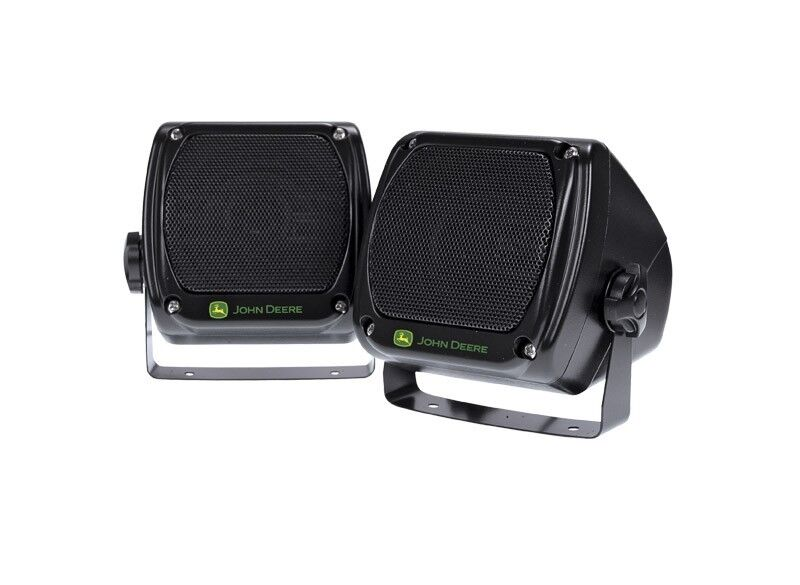 Genuine John Deere Water Resistant Speakers (2) MCXFA1889 Radio Stereo