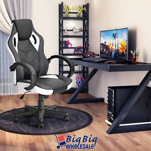 Gaming Style Ergonomic High Back Office Computer Desk Chair PU Leather Swivel