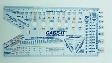 New Gage It Hardware Gauge Measuring Tool For Pipe Threads Wire Drills Amp More