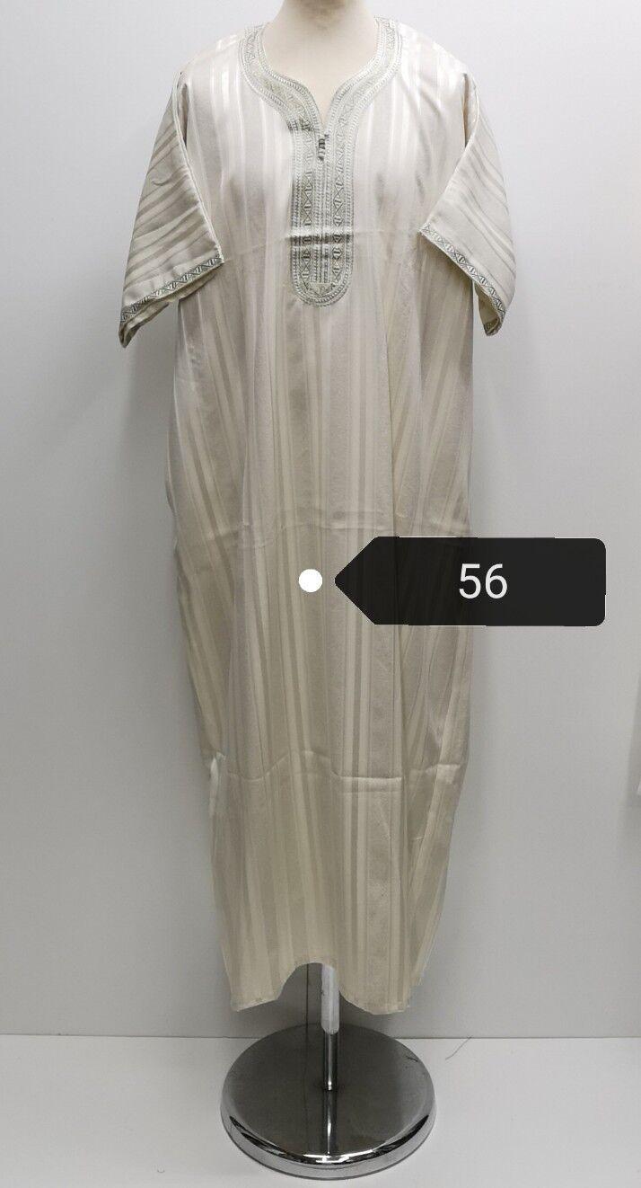 Rich Cotton Men Mgoldccan short sleeves thobe jubba kandorah.dishdash.size.56