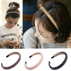 New-Women-Bridal-Crystal-Beads-Wedding-Tiara-Headband-Girl-Hair-Bands
