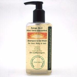 SENSITIVE-BABY-SKIN-amp-SCALP-CARE-Organic-Aloe-Vera-Unscented-Shampoo-and-Wash