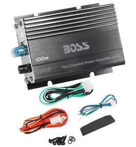 boss ce102 100 watt 2 channel mini high power amplifier car amp rh ebay com