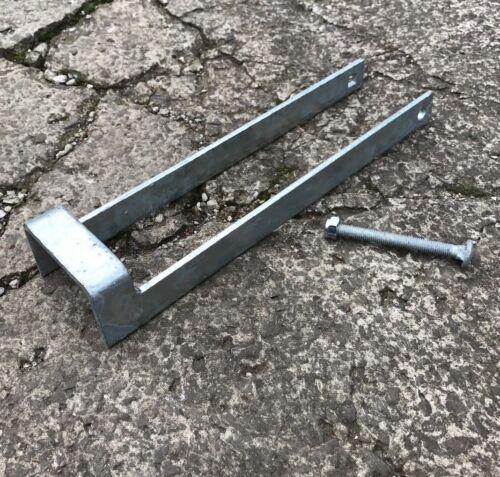 "14/"" Securit Heavy Duty Doppio Piano Zincato Cancello Throwover Loop 350mm"