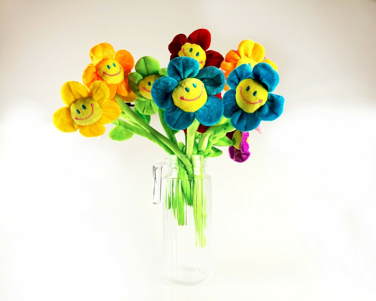 16pcs bendable stems plush daisy flowers smiley happy face 13 inches norton secured powered by verisign izmirmasajfo