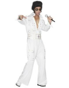 Image Is Loading Licensed 70s Elvis Presley Deluxe Fancy Dress Costume