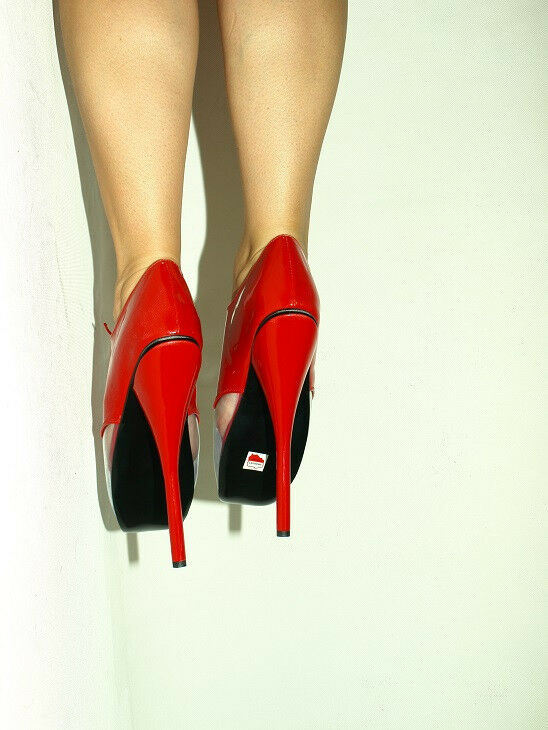 BLACK OR ROT PATENT LEATHER BALLET PRODUCER- PUMPS SIZE 6-16 HEELS-8,5