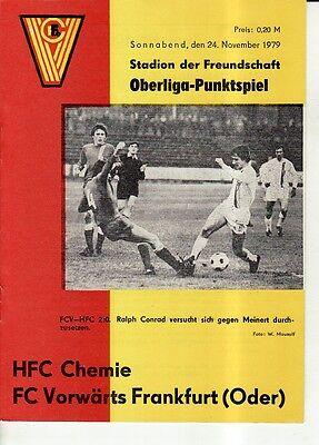 FC Magdeburg HFC Chemie OL 78//79  1