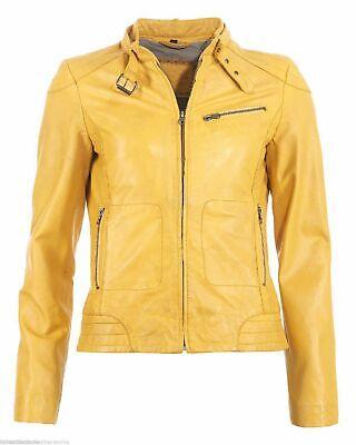Womens Leather Jackets Motorcycle Biker Genuine Lambskin Leather Jacket