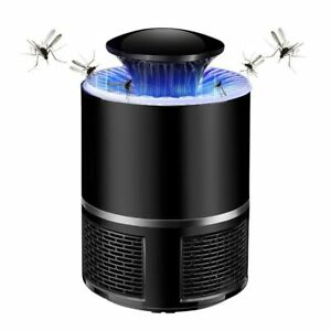 Piege-Anti-Moustique-Lampe-UV-USB-SIlencieux-Tue-Insectes-Noir-Neuf-Sans-Bruit
