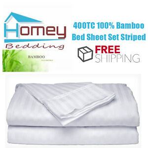 Image Is Loading 400TC 100 Organic Bamboo Bed Sheet Fitted 2Pillowcase