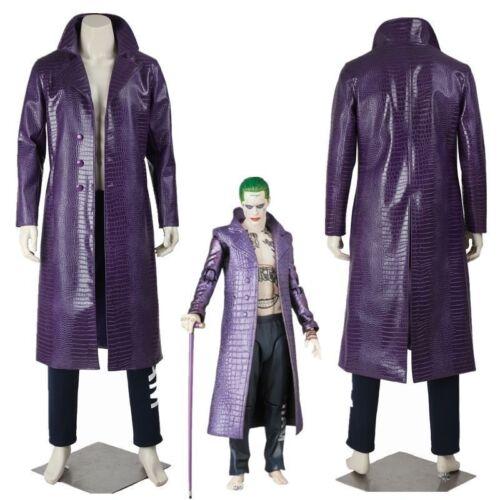 Cuir En Coat Homme Squad Trench Faux De Cuir Jared Crocodile Leto Suicide Joker Costume gqYwWpTzp
