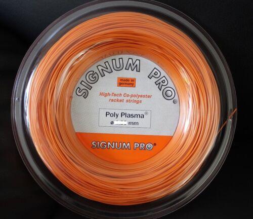 1.28 mm Signum Pro Poly Plasma 200 m Rolle ø 1.23 mm Tennis Saite string
