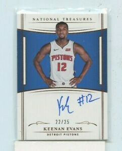 KEENAN-EVANS-2018-19-Panini-National-Treasures-Rookie-Auto-Autograph-D-25