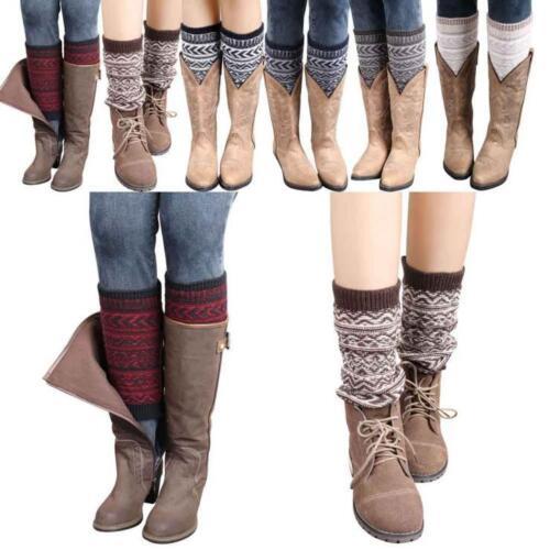 Damen Winter Bein Wärmer Gestrickte Gehäkelt Lange Socken Winter Warmmer Socken