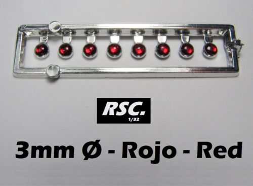 RING LIGHTS 3 mm RED 8 UNITS LENSES FAROS FARE LIGHTHOUSE RESIN SLOT