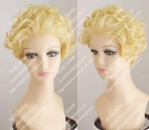 Good Sexy Women Marilyn Monroe Blonde Wig Monroe Gold Wig Wavy Hair Free Shipping 100% Original Home