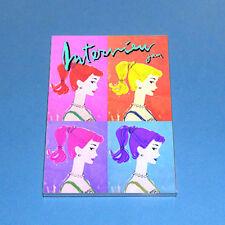 Vtg Barbie Booklet & Mod Warhol Mag Cover Inspired Photo In 2.5x3.5 Magnet Frame