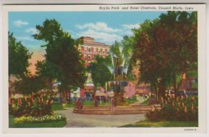 card-Baylis-Park-and-Hotel-Chieftain-Council-Blutts-Iowa-A76