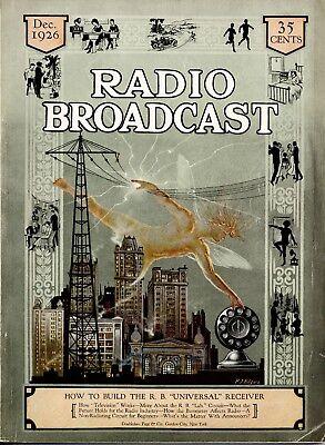 Vintage Retro Magazine Poster A4,A3,A2,A1 Home  Print RADIO BROADCAST 1926