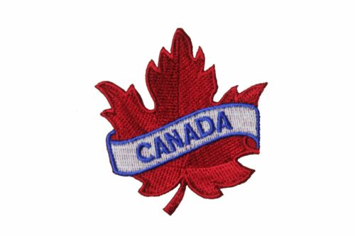 2.5 x 2.5 in Canada feuille d/'érable rouge iron-on patch Crest Badge environ 6.35 cm Taille