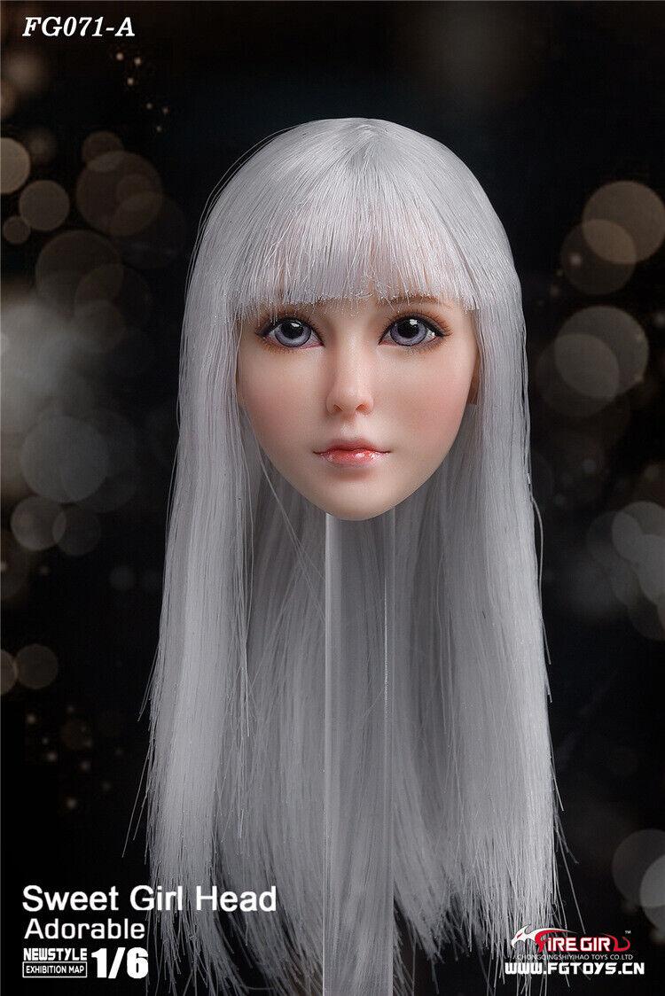Fire Girl Toys 1 6 FG071 Sweet Female Girl Girl Girl Head Carving Fit 12'' Pale Body Doll 5dd5b9