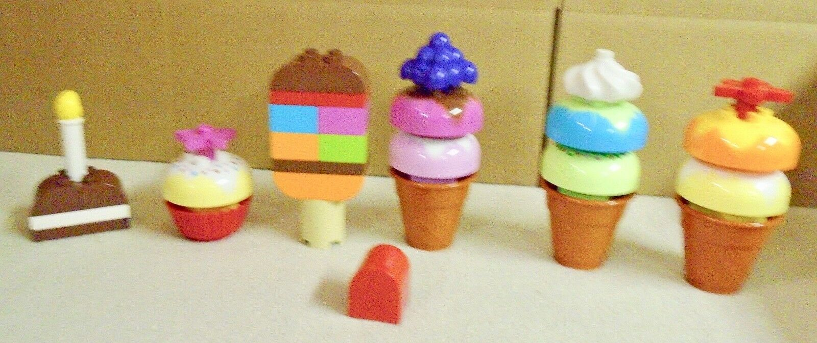 LEGO  DUPLO  CREATIVE  ICE    CREAM  &   MY  FIRST  CAKES  COMPLETE  & 9c3a7f