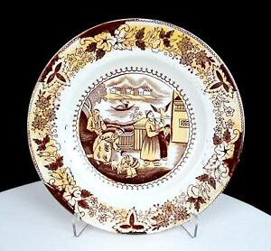 ENGLISH-ANTIQUE-PORCELAIN-CHINOISERIE-TRANSFERWARE-6-3-4-034-SIDE-PLATE-1880-1900