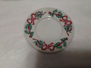 Image Is Loading International Tableworks Christmas Ribbons 157 Saucer