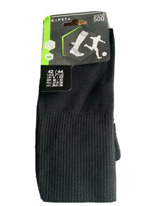 Kipsta-European-Soccer-Socks-Unisex-Black-Size-Men-9-amp-Women-10-5