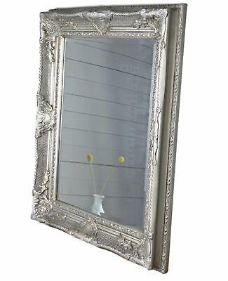 Spiegel silber 62x52cm Holz NEU Wandspiegel barock Badspiegel Standspiegel antik
