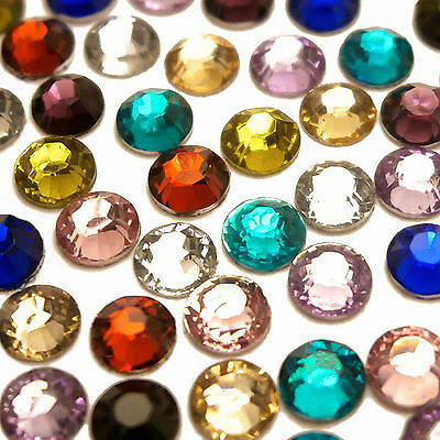 1000 2mm flat back crystal acrylic nail art rhinestones