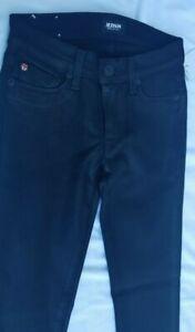 b05c13bf0fd HUDSON JEANS Krista Super Skinny Denim Ankle Jean in Black Size 23 ...