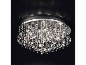 Plafoniere In Cristallo A Soffitto : Plafoniera d lampada soffitto design moderno acciaio cromato