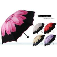 Folding Windproof Anti UV/Rain Umbrella Daisy Flower Design Durable