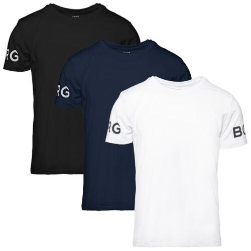 Björn Borg Short Sleeve Tee Shirt Men Herren Sport Freizeit T-Shirt 9999-1140