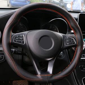 38CM Universal Micro Fiber Leather Car Steering Wheel Cover Anti-Slip Anti-Wear
